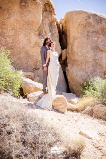Amazing Vintage Joshua Tree Camping Wedding – Someplace Images 31