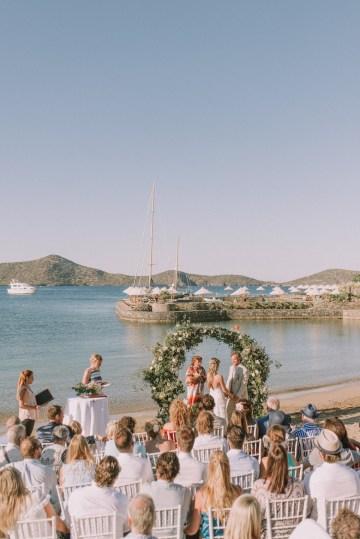 Boho Greek Island Wedding Featuring A Circle Floral Arch – Paulina Weddings 12