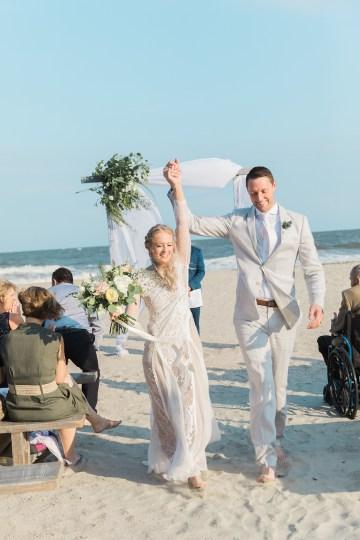 Intimate Southern Boho Beach Wedding in Charleston – Ava Moore Photography 47
