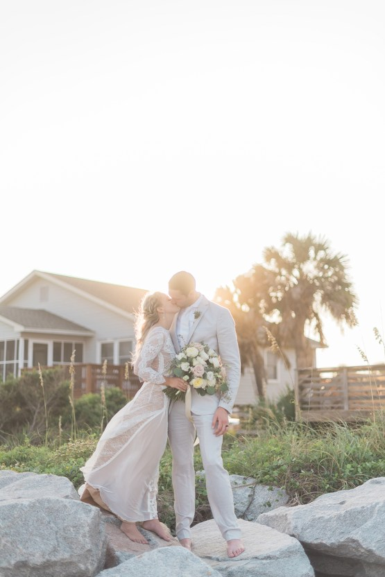 Intimate Southern Boho Beach Wedding in Charleston – Ava Moore Photography 64