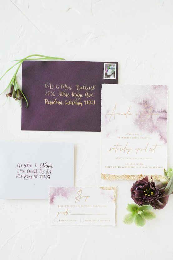 Pretty Mauve & Lilac Wedding Inspiration (With A Pink Leather Bridal Jacket!)