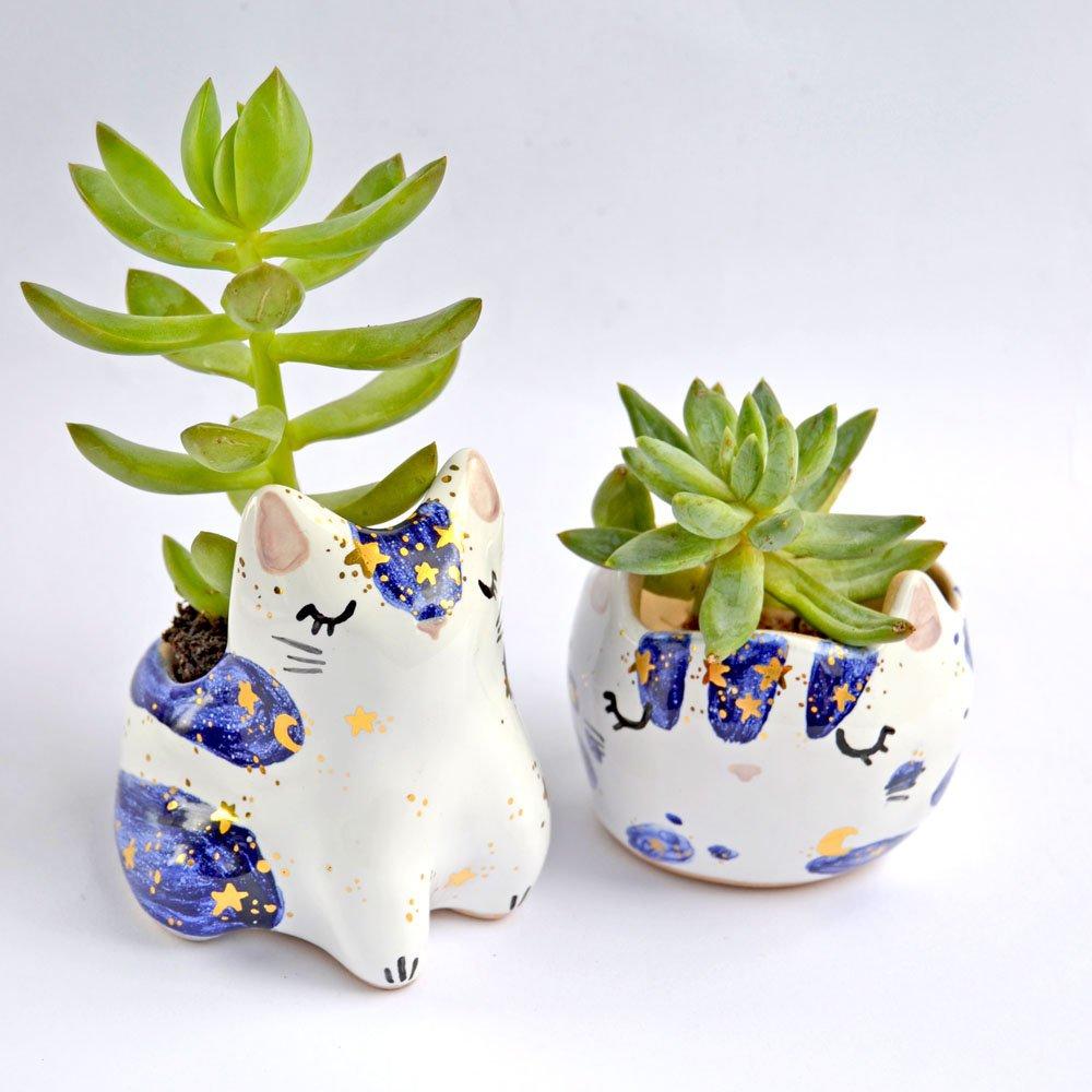 18. Cat Succulent Planter