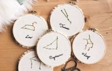 34 Unique Personalized Esty Gifts For Your Bridesmaids – Constellation Embroidery Hoop