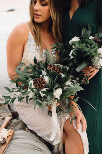 Romantic Same Sex Beach Elopement Inspiration in Earth Tones – Kalon Weddings Photography – Chloe Nicole Weddings 22