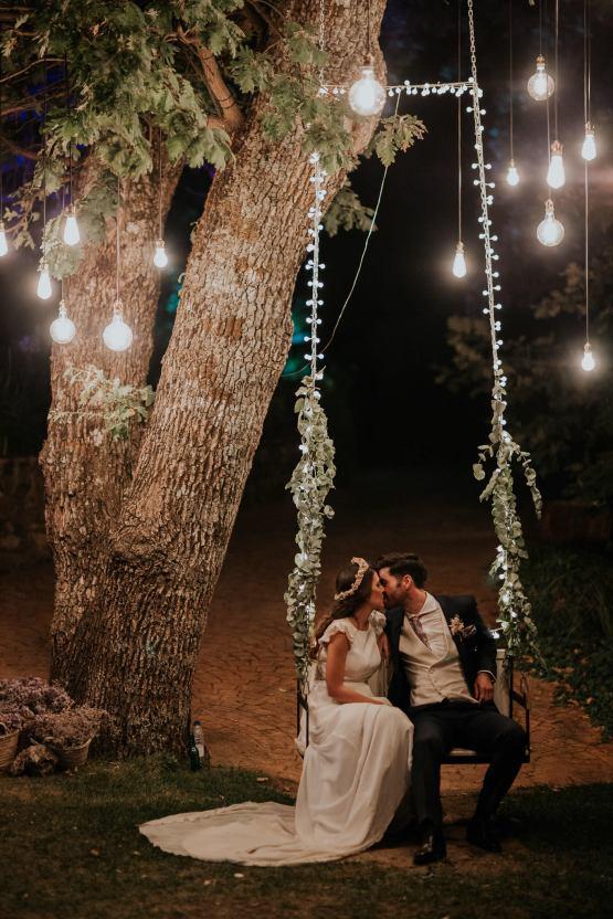 Romantic and Fashionable Spanish Boho Wedding – Javier Berenguer 50