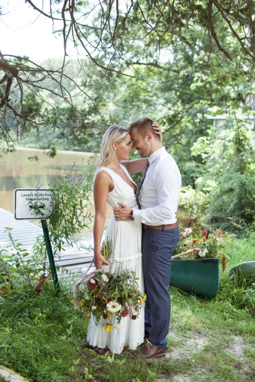 Wildflower Elopement In The Middle Of A Lake – White Poppy Weddings 25