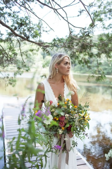 Wildflower Elopement In The Middle Of A Lake – White Poppy Weddings 26