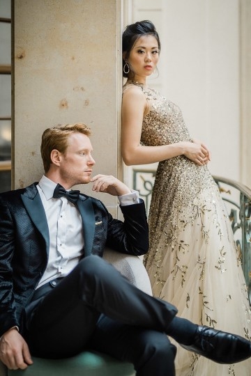 A Dramatic Gold Wedding Dress for the Goddess Bride – Vivid Symphony 25