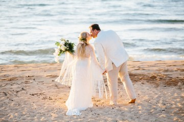 Relaxed Hawaiian Beach Wedding With Our Dream Rue De Seine Boho Wedding Dress – Absolutely Loved Photography 1
