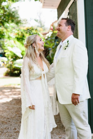 Relaxed Hawaiian Beach Wedding With Our Dream Rue De Seine Boho Wedding Dress – Absolutely Loved Photography 15