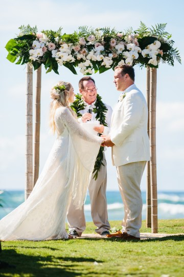 Relaxed Hawaiian Beach Wedding With Our Dream Rue De Seine Boho Wedding Dress – Absolutely Loved Photography 36