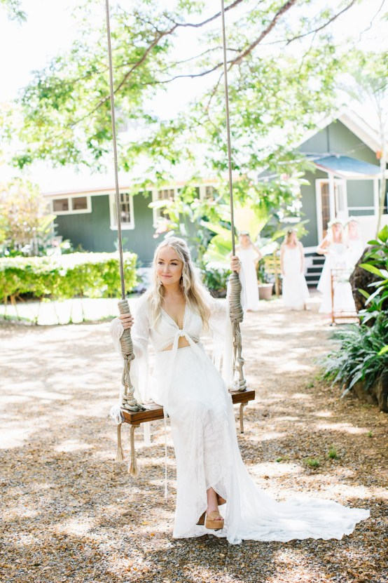 Relaxed Hawaiian Beach Wedding With Our Dream Rue De Seine Boho Wedding Dress – Absolutely Loved Photography 39