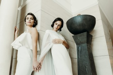 Sleek and Sexy Modern Wedding Inspiration in Emerald – Marcella Cistola 4