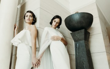 Sleek & Sexy Fashion-Forward Wedding Inspiration In Emerald
