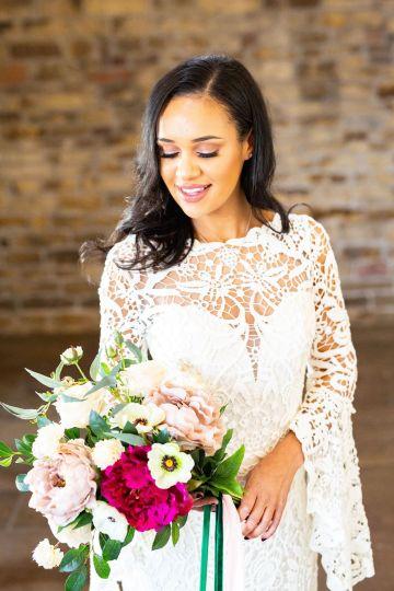 Vibrant Blossom Barn Wedding Inspiration With Creative Dessert Ideas – Deluxe Blooms – Natasha Cadman Photography 10
