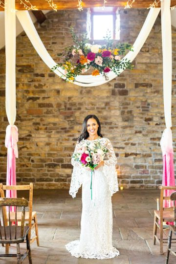 Vibrant Blossom Barn Wedding Inspiration With Creative Dessert Ideas – Deluxe Blooms – Natasha Cadman Photography 12