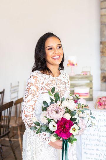 Vibrant Blossom Barn Wedding Inspiration With Creative Dessert Ideas – Deluxe Blooms – Natasha Cadman Photography 18