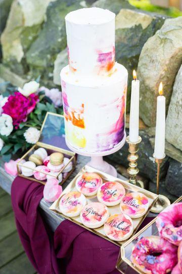 Vibrant Blossom Barn Wedding Inspiration With Creative Dessert Ideas – Deluxe Blooms – Natasha Cadman Photography 29
