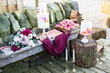 Vibrant Blossom Barn Wedding Inspiration With Creative Dessert Ideas – Deluxe Blooms – Natasha Cadman Photography 6