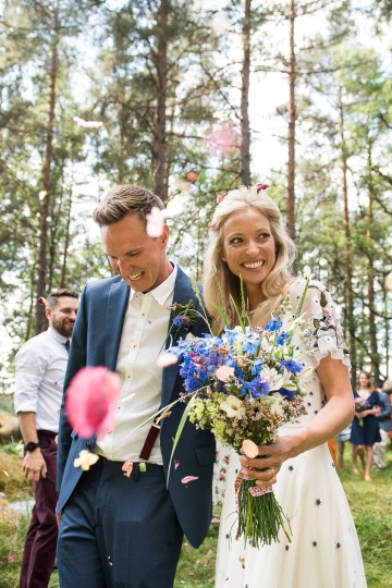 Wildflower Wedding With A Colorful Floral Wedding Dress – Jessica Grace Photography 31