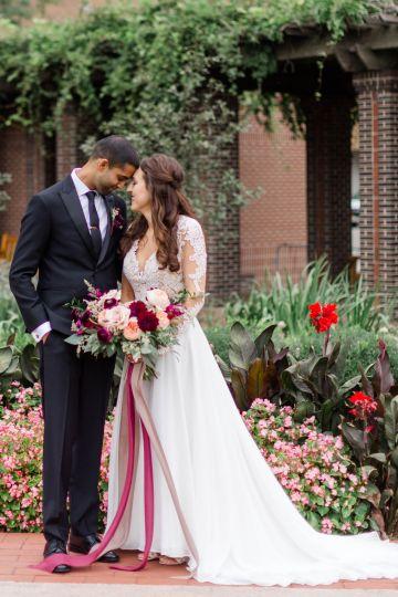 Beautiful Burgundy Hindu Fusion Wedding – Danielle Harris Photography 37