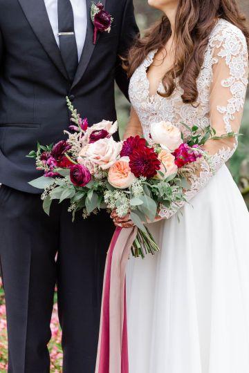 Beautiful Burgundy Hindu Fusion Wedding – Danielle Harris Photography 38