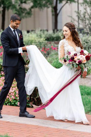 Beautiful Burgundy Hindu Fusion Wedding – Danielle Harris Photography 39