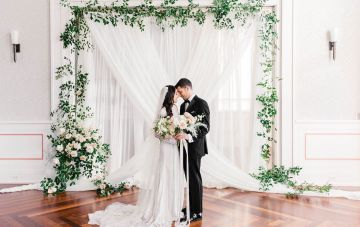 Draped Elegance; Luxurious Indoor Wedding Inspiration