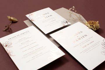 Gorgeous Custom Wedding Invitations By Paperlust 13