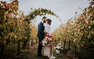 Autumn Harvest; Italian Winery Wedding Inspiration