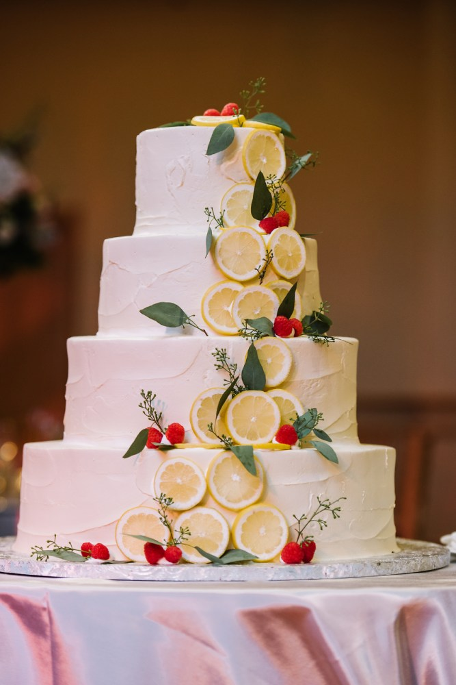 Natural White Wedding Cake with Citrus