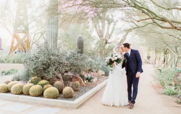 Rustic Blue Desert Wedding