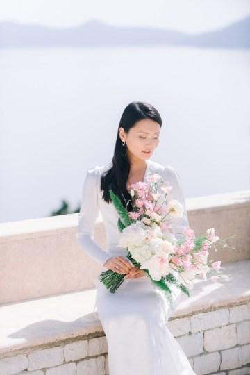 Modern Fashion-Forward Black White and Pink Greek Wedding Inspiration – Panos Demiropoulos 21