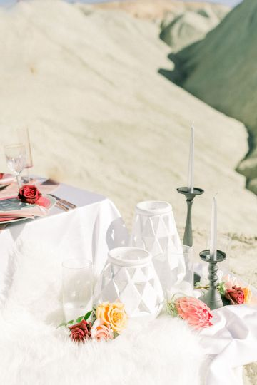 Rainbow Basin Desert Wedding Inspiration with Moon Stationery – Victoria Masai Photography 25