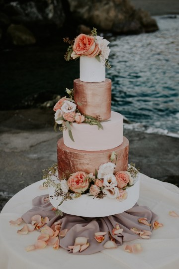 Rose Gold and Copper Cinque Terre Fall Wedding Inspiration – Di Luce e d Ombra – Greta Betton Wedding Planner 19