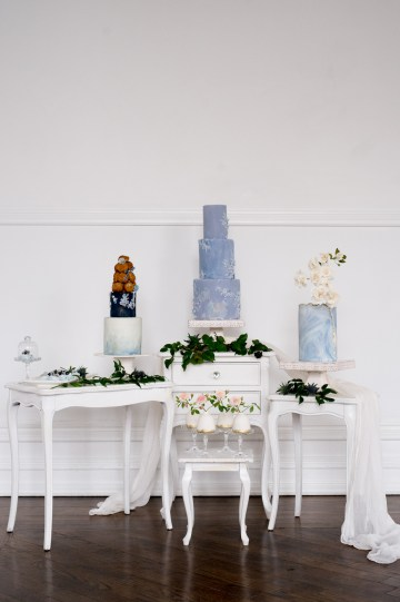 Something Blue Wedding Dessert and Cake Inspiration – Cipriano Palmer Photography 22