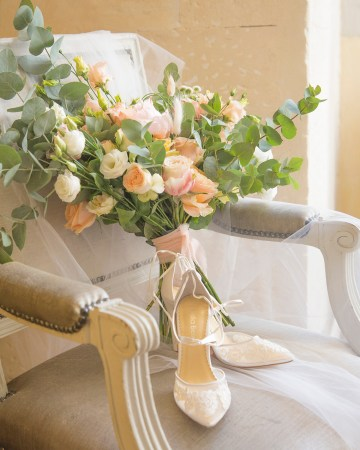 Autumn French Chateau Peach Wedding Inspiration – Szu Designs 11