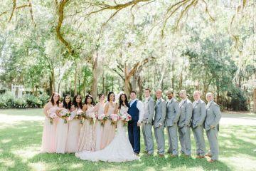 Elegant Blush Southern Plantation Wedding – Molliner Photography 50