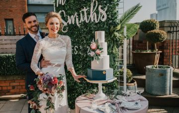 Swanky Vintage Manchester Hotel Wedding Inspiration