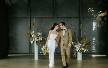 Chic Fall-Flavored Loft Wedding Inspiration