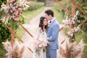 Pink Boho Farm Wedding Inspiration filled with Pretty Details – Carrie McCluskey Photo 35