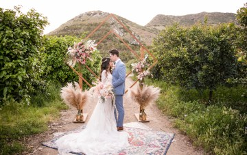 Pink Winery Wedding Inspiration Filled With Pretty Details