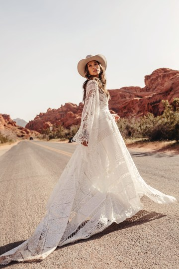 Rue de Seine Moonrise Canyon Wedding Dress Collection – Harvest Moon Gown 1