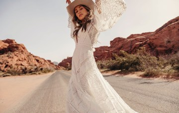 Moonrise Canyon: The Wild & Romantic Rue De Seine Wedding Dress Collection