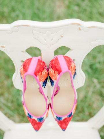 Whimsical Pantone Living Coral Colorful Meadow Wedding Inspiration – Kira Nicole Photography 11