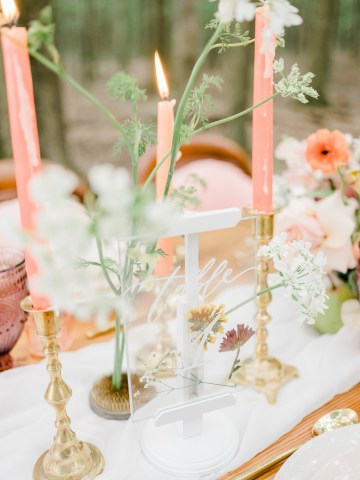 Whimsical Pantone Living Coral Colorful Meadow Wedding Inspiration – Kira Nicole Photography 18