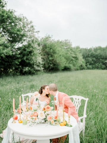 Whimsical Pantone Living Coral Colorful Meadow Wedding Inspiration – Kira Nicole Photography 33