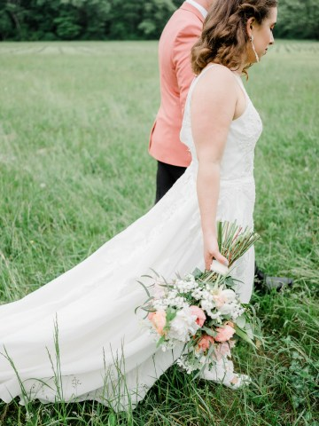 Whimsical Pantone Living Coral Colorful Meadow Wedding Inspiration – Kira Nicole Photography 37