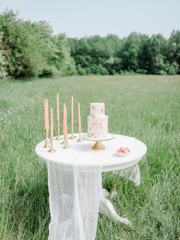 Whimsical Pantone Living Coral Colorful Meadow Wedding Inspiration – Kira Nicole Photography 6