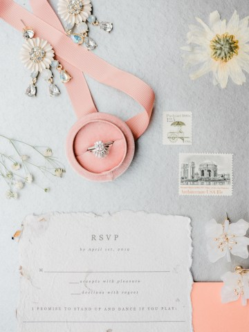 Whimsical Pantone Living Coral Colorful Meadow Wedding Inspiration – Kira Nicole Photography 9